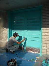 木製ドア塗装