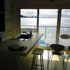 海の見えるマンションリフォーム/逗子海岸を望む明るい暮らし