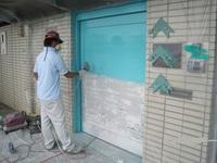 木製ドア 塗装